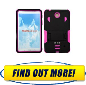 iRhino TM BLACKHOTPINK Heavy Duty rugged impact Hybrid Case cover with Build In Kickstand Protective Case For Samsung galaxy Tab 4 8.0 inch T330 Tablet Solutions