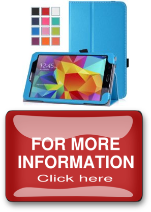 Elements MoKo Samsung Galaxy Tab 4 8.0 Case Slim Folding Cover Case for Samsung Galaxy Tab 4 8.0 Inch Tablet, BLUE With Smart Cover Auto Wake / Sleep. WILL NOT Fit Samsung Galaxy Tab 3 8.0